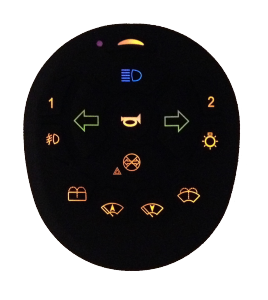 Wireless secondary remote control with backlight HLC series
